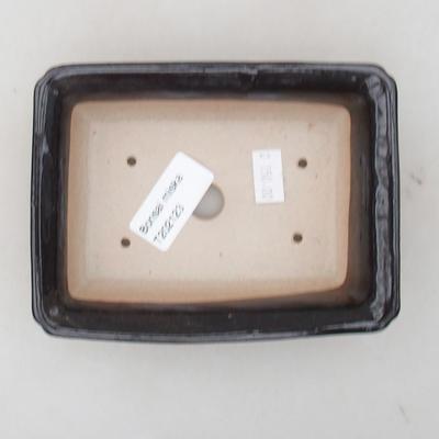Ceramic bonsai bowl 13.5 x 10 x 3.5 cm, brown color - 3