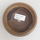 Ceramic bonsai bowl 10.5 x 10.5 x 3 cm, brown color - 3/3