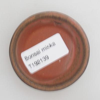 Ceramic bonsai bowl 6 x 6 x 1,5 cm, red color - 3
