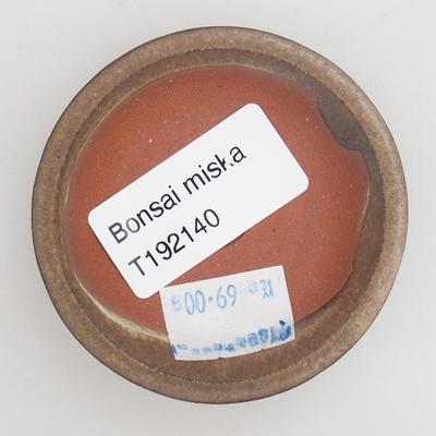 Ceramic bonsai bowl 6 x 6 x 1,5 cm, color brown - 3