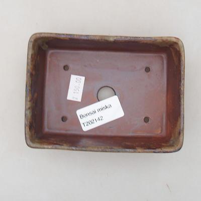Ceramic bonsai bowl 12 x 9 x 3.5 cm, color brown - 3