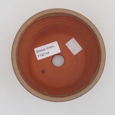 Ceramic bonsai bowl 11,5 x 11,5 x 8 cm, color brown - 3