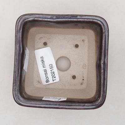 Ceramic bonsai bowl 8 x 8 x 5 cm, metal color - 3