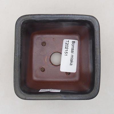 Ceramic bonsai bowl 8 x 8 x 5 cm, gray color - 3