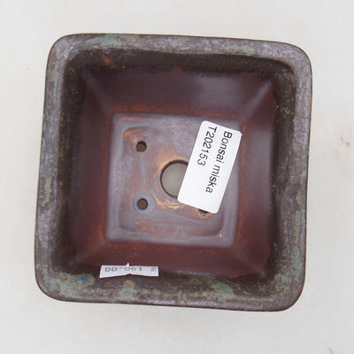 Ceramic bonsai bowl 9 x 9 x 5.5 cm, gray color - 3