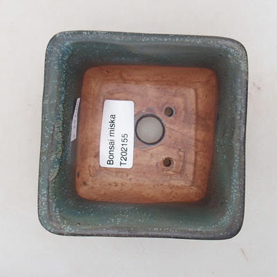 Ceramic bonsai bowl 9 x 9 x 5.5 cm, gray color - 3
