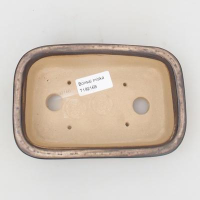 Ceramic bonsai bowl 16 x 10 x 4,5 cm, brown-beige color - 3