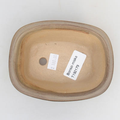Ceramic bonsai bowl 12 x 9 x 5 cm, color brown - 3