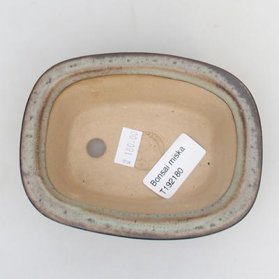 Ceramic bonsai bowl 12 x 9 x 5 cm, green-gray color - 3