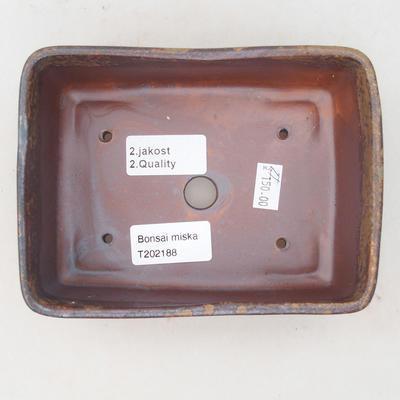 Ceramic bonsai bowl 15 x 11 x 5.5 cm, color brown-green - 2nd quality - 3