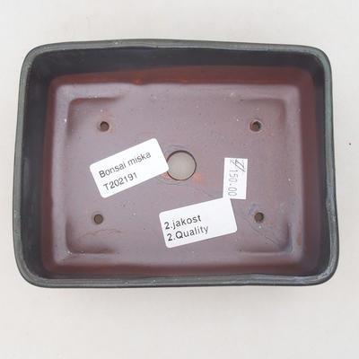Ceramic bonsai bowl 15 x 11 x 5.5 cm, brown-blue color - 2nd quality - 3