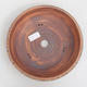 Ceramic bonsai bowl 23,5 x 23,5 x 6,5 cm, color brown - 3/4