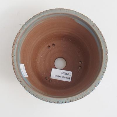 Ceramic bonsai bowl 14,5 x 14,5 x 11 cm, brown-blue color - 3