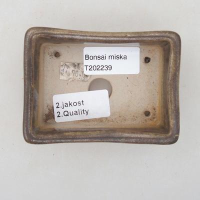 Ceramic bonsai bowl 9.5 x 7 x 3.5 cm, color brown-green - 2nd quality - 3