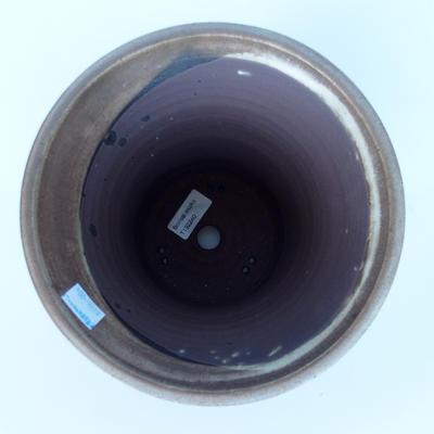 Ceramic bonsai bowl 20,5 x 20,5 x 19 cm color brown - 3