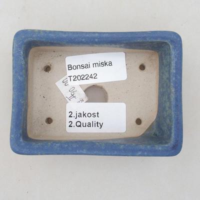 Ceramic bonsai bowl 9.5 x 7 x 3.5 cm, color blue - 2nd quality - 3