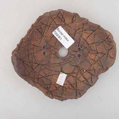 Ceramic bonsai bowl 14 x 12.5 x 4 cm, gray color - 2nd quality - 3