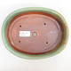 Ceramic bonsai bowl 22 x 17 x 5 cm, brown-green color - 3/4