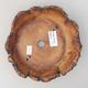 Ceramic bonsai bowl 12 x 12 x 4 cm, gray color - 2nd quality - 3/3