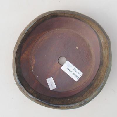 Ceramic bonsai bowl 15 x 15 x 4 cm, color brown - 2nd quality - 3