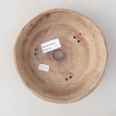 Ceramic bonsai bowl 16 x 16 x 5 cm, gray color - 2nd quality - 3