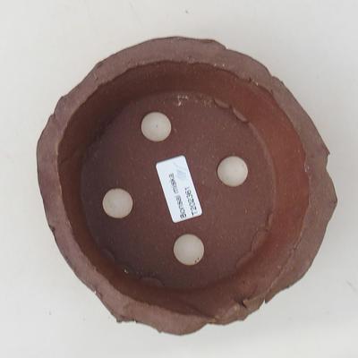 Ceramic bonsai bowl 13 x 13 x 4.5 cm, gray color - 2nd quality - 3