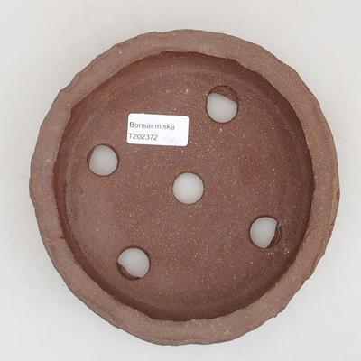 Ceramic bonsai bowl 17 x 17 x 4 cm, gray color - 2nd quality - 3