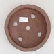 Ceramic bonsai bowl 17 x 17 x 4 cm, gray color - 2nd quality - 3/3