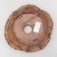 Ceramic bonsai bowl 16 x 16 x 4.5 cm, gray color - 2nd quality - 3/3