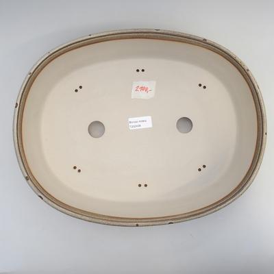 Bonsai bowl 38 x 30 x 9 cm, color gray-brown - 3