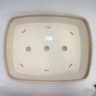 Bonsai bowl 44 x 34 x 10.5 cm, gray-beige color - 3