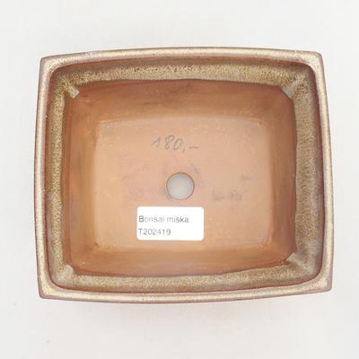 Bonsai bowl 14.5 x 12 x 7 cm, color brown - 3