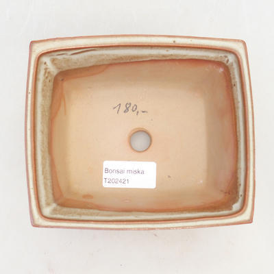 Bonsai bowl 14.5 x 12 x 7 cm, brown-beige color - 3