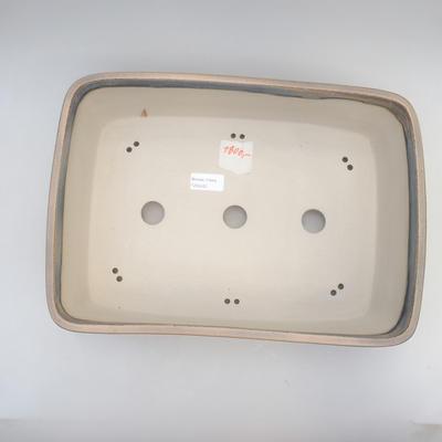 Bonsai bowl 38 x 27 x 11 cm, gray-beige color - 3