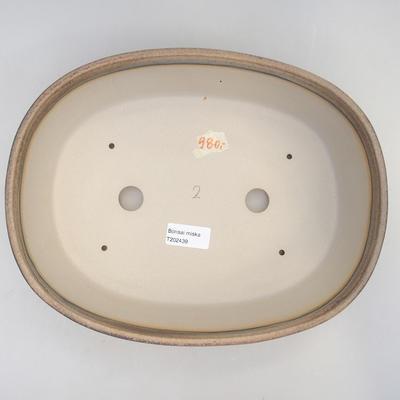 Bonsai bowl 29.5 x 23 x 8 cm, brown-beige color - 3
