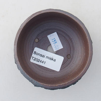 Ceramic bonsai bowl 8 x 8 x 4.5 cm, color cracked - 3