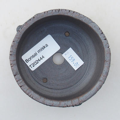Ceramic bonsai bowl 8.5 x 8.5 x 4.5 cm, color cracked - 3