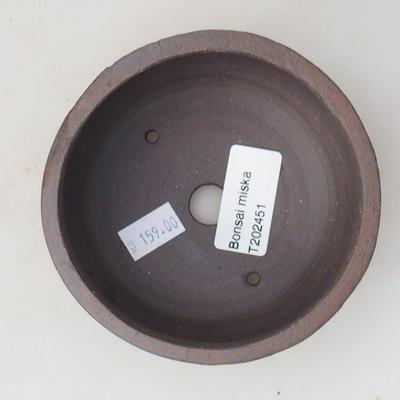 Ceramic bonsai bowl 10 x 10 x 4.5 cm, color cracked - 3
