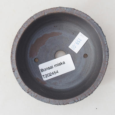 Ceramic bonsai bowl 9 x 9 x 3.5 cm, color cracked - 3