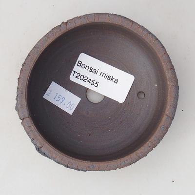 Ceramic bonsai bowl 8.5 x 8.5 x 4 cm, color cracked - 3