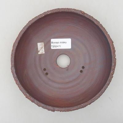 Ceramic bonsai bowl 17.5 x 17.5 x 5 cm, cracked color - 3