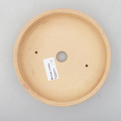 Ceramic bonsai bowl 15.5 x 15.5 x 3 cm, color cracked - 3