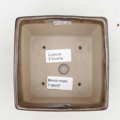 Ceramic bonsai bowl 2nd quality - 11 x 11 x 8,5 cm, color green - 3