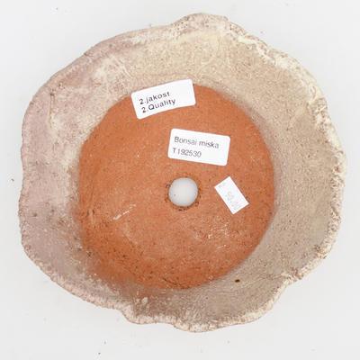 Ceramic bonsai bowl 2nd quality - 18 x 18 x 5 cm, color beige - 3