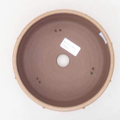 Ceramic bonsai bowl 17.5 x 17.5 x 5.5 cm, brown color - 3