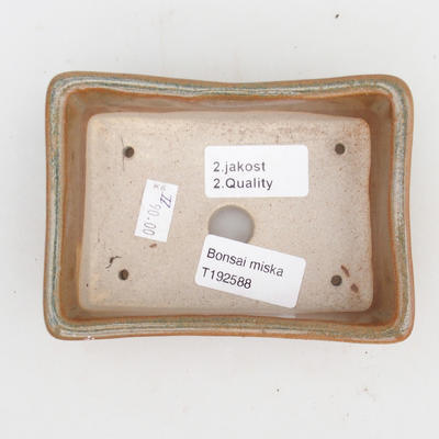 Ceramic bonsai bowl 2nd quality - 12 x 9 x 3,5 cm, color gray - 3
