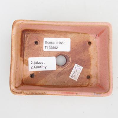 Ceramic bonsai bowl 2nd quality - 12 x 9 x 3,5 cm, brown-pink color - 3