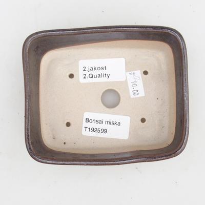Ceramic bonsai bowl 2nd quality - 12 x 10 x 4 cm, brown color - 3
