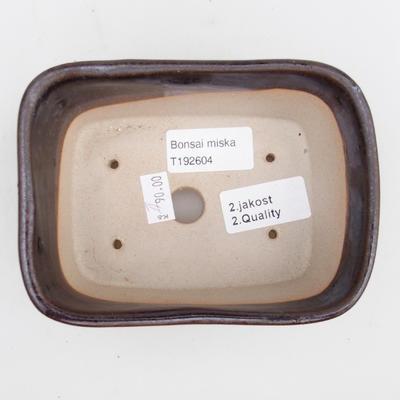 Ceramic bonsai bowl 2nd quality - 13 x 10 x 6 cm, color brown - 3