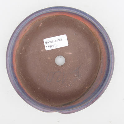 Ceramic bonsai bowl 2nd quality - 16 x 16 x 4 cm, blue color - 3